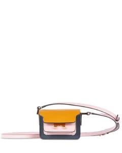 Nano Trunk Semi Patent Leather Bag