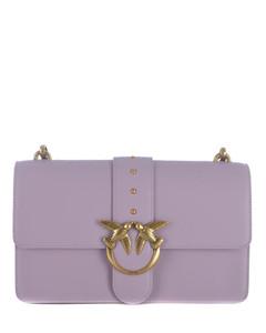Women's Delphinus Leather Shoulder Bag - Black