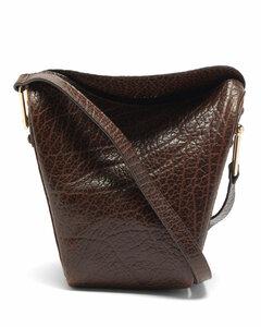 Small foldover leather shoulder bag