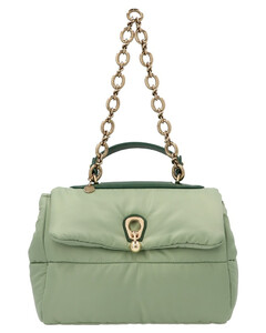 Orange leather mini Pocket handbag