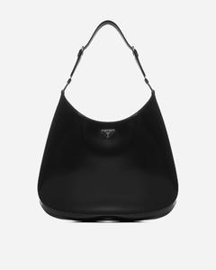 Logo-plaque leather bag