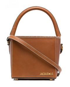 Le Seau Carre Leather Satchel