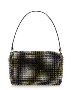 Medium black bucket bag