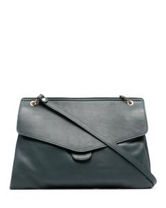 Crystal-Embellished Logo Lunch Clutch Bag