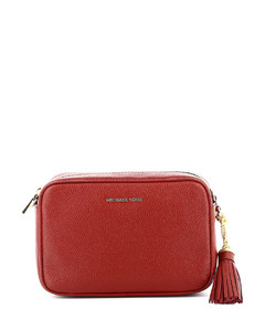 Small cream faux leather shoulder bag
