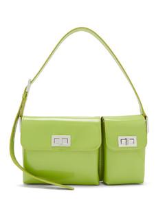 Billy patent-leather shoulder bag