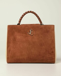 Varenne bag in suede and raffia