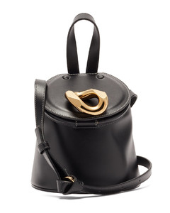 Chain Lid leather shoulder bag