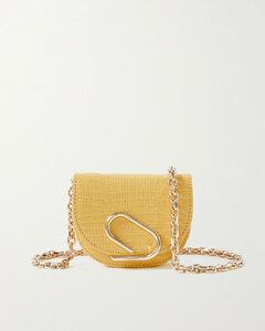 Alix Mini Lizard-effect Patent-leather Shoulder Bag