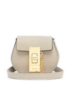 Drew mini grained-leather belt bag
