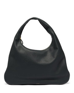 Grained-leather shoulder bag