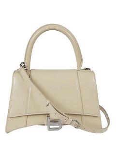 Hourglass Small Leather Top Handle Bag