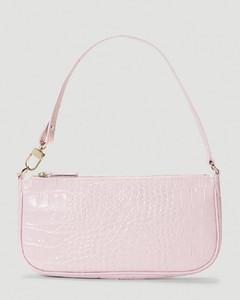 Rachel Crocodile Embossed Shoulder Bag in Pink