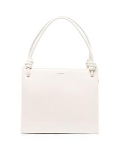 Women's Evangli Scarf Chain Bar Detail Shoulder Bag - Navy