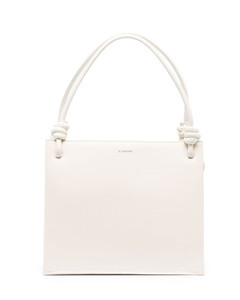 Women's Evangli Scarf Chain Bar Detail Shoulder Bag - Navy