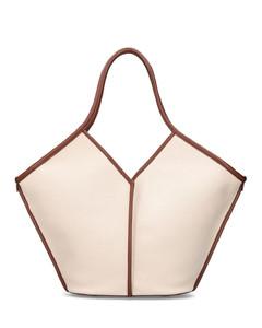 Calella Canvas & Leather Shoulder Bag