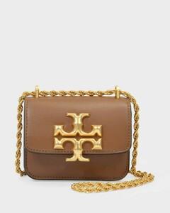 Eleanor Mini Crossbody in Brown Moose Leather