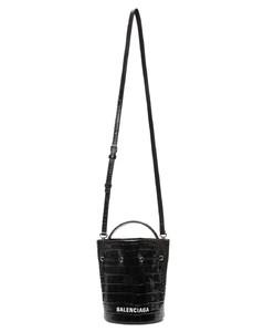 黑色Shiny XS Everyday鳄鱼纹水桶包