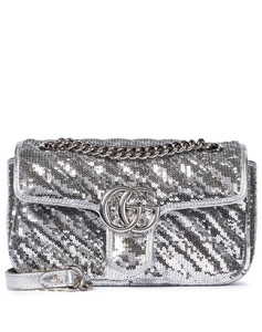 GG Marmont Mini sequinned shoulder bag