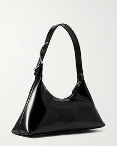 Estelle Glossed-leather Shoulder Bag
