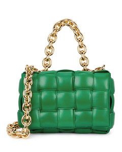 The Chain Cassette green leather cross-body bag