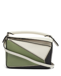 Puzzle leather cross-body bag