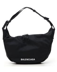 wheel sling bag in nylon with logo