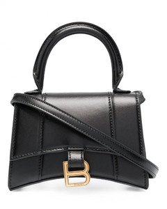 Hourglass Leather Top Handle Bag