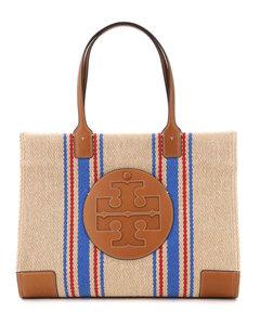 Tote Bags Tory Burch for Women Natural Regal Blue