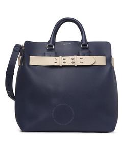 Regency Blue Large Leather Stud Belt Bag