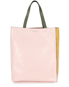 Museo panelled leather tote