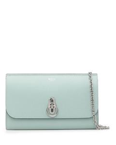 Women's Sleek Small Drawstring Bucket Bag - Brown