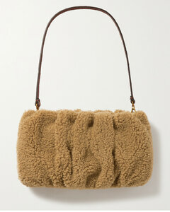 Bean Leather And Shearling Shoulder Bag