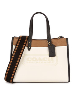 Field 30 panelled leather tote