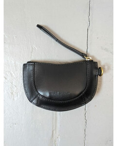 Kate black leather clutch