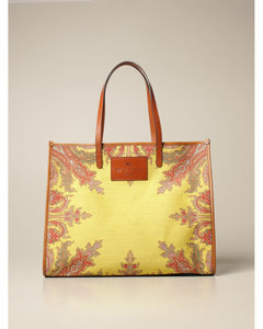 shoulder bag in jacquard paisley fabric