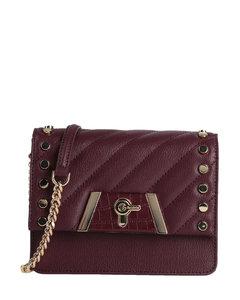 Baby Amber crocodile-effect leather shoulder bag