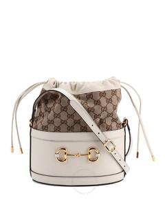 White Ladies Horsebit 1955 Bucket Bag