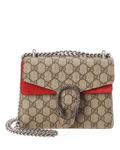 Beige / Red Ladies Dionysus GG Supreme Mini Bag