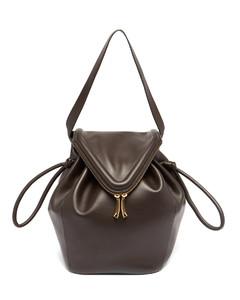 Beak medium leather shoulder bag