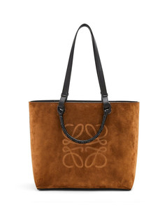 Anagram tote bag in classic calfskin and suede