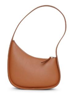 Half Moon small tan leather shoulder bag