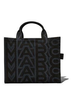 Black studded crocodile-effect shoulder bag