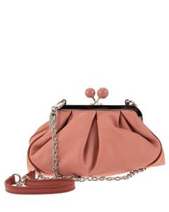 Lilac leather handbag
