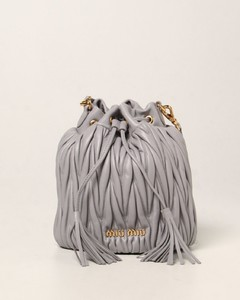 bucket bag in quilted nappa