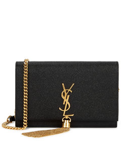 Kate black leather wallet-on-chain