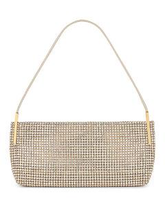 Peate Red (V) pleated crossbody bag