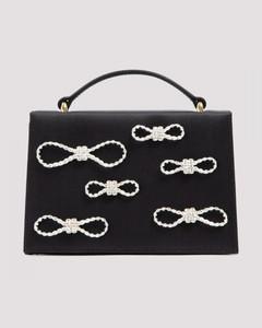Satin Bag With Crystal Bows