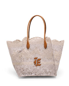 Leather Cross-Body Bag In Black & Bone