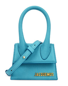 Le Chiquito turquoise leather top handle bag
